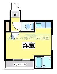 小阪ヴィラデステ[6階]の間取り
