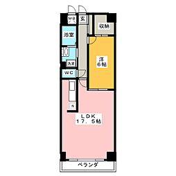 エスティメゾン鶴舞[3階]の間取り