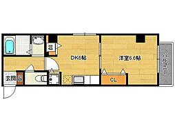 ラモーダ西院[2階]の間取り