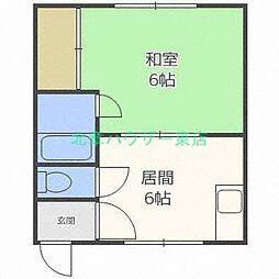 北海道札幌市東区北二十条東14丁目の賃貸アパートの間取り