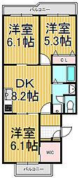 プレステージ本郷台[2階]の間取り