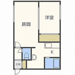 北海道札幌市白石区南郷通1丁目南の賃貸マンションの間取り