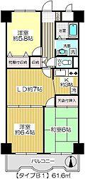 ダイヤメゾン戸田公園[613B1号室]の間取り