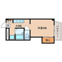 静岡県静岡市駿河区有東3丁目の賃貸マンションの間取り
