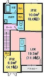 メゾン・S[2階]の間取り