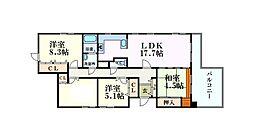 リブレ北新在家 5階4LDKの間取り