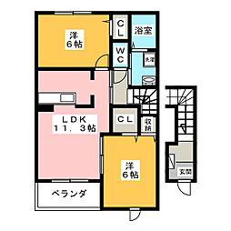 シルエーラ.II[2階]の間取り