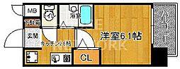 プレサンス京都四条烏丸[902号室号室]の間取り