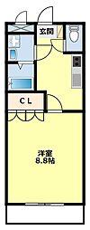 愛知県豊田市広川町8丁目の賃貸アパートの間取り