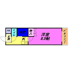 シャンテ三船II[2階]の間取り