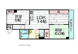 ブリックハイツ江坂[8階]の間取り