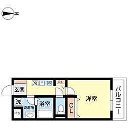 3chome house[102号室]の間取り