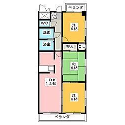 マンション豊島[4階]の間取り