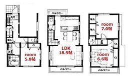 建物参考プラン:間取り/3LDK、建物金額/1620万円(税込)、延床面積/87.13m2