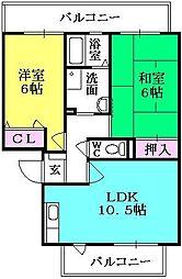 キフエヒミトSA[2階]の間取り
