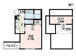 メゾングレース新松戸[303号室号室]の間取り