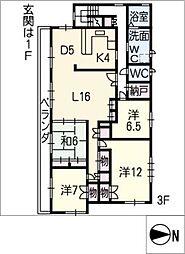 エトワール八事3F[3階]の間取り