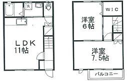 [テラスハウス] 新潟県新潟市東区上木戸2丁目 の賃貸【/】の間取り