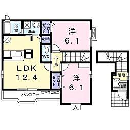 愛知県名古屋市南区堤町5丁目の賃貸アパートの間取り