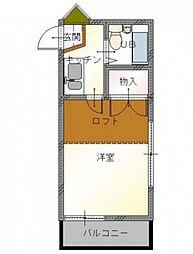エクセルハイム西古松西町[2階]の間取り
