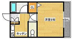 メゾネート筒井[206号室]の間取り