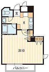 香川県高松市古新町の賃貸マンションの間取り