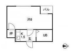 福岡県北九州市小倉南区若園4丁目の賃貸マンションの間取り