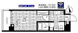JR山手線 上野駅 徒歩8分の賃貸マンション 4階1Kの間取り