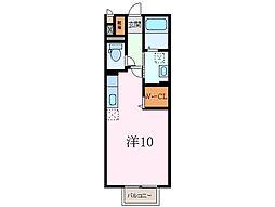 静岡県三島市大宮町3丁目の賃貸アパートの間取り