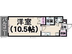 シャルム井尻[305号室]の間取り