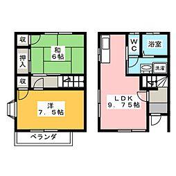 [テラスハウス] 静岡県浜松市南区恩地町 の賃貸【/】の間取り