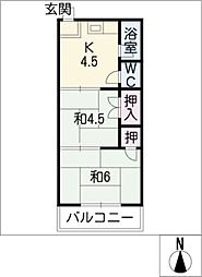 大宗荘[2階]の間取り