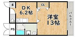 レジデンス平野[1階]の間取り