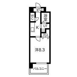 名古屋市営鶴舞線 浅間町駅 徒歩9分の賃貸マンション 10階1Kの間取り