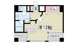 プレジール三ノ宮[6階]の間取り