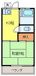 第2ハイツナカシモ[102号室]の間取り