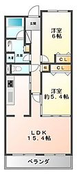甲子園三番町ハイツ[2階]の間取り