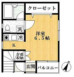 コーポWIN[1階]の間取り