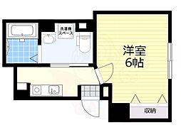 東急世田谷線 西太子堂駅 徒歩10分の賃貸マンション 1階1Kの間取り