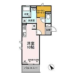 愛知県安城市東栄町3丁目の賃貸アパートの間取り