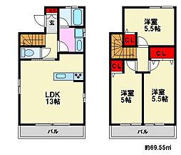 [一戸建] 福岡県福岡市南区的場1丁目 の賃貸【/】の間取り