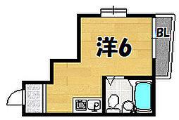 コンフォート住道[3階]の間取り