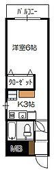 第2KBビル[402号室]の間取り