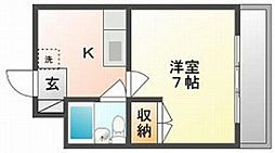 岡山中建ビル[3階]の間取り