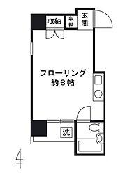 ピドル川田[203号室]の間取り