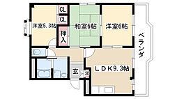 愛知県日進市香久山1の賃貸アパートの間取り