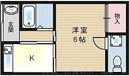 [テラスハウス] 大阪府大阪市此花区伝法5丁目 の賃貸【/】の間取り