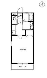 マリンハイツC[2階]の間取り