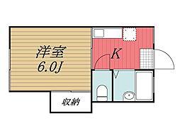 千葉県印西市相嶋の賃貸アパートの間取り