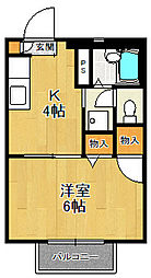 カンスイ壱番館[2階]の間取り